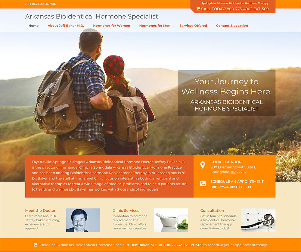 Arkansas Medical Website Design