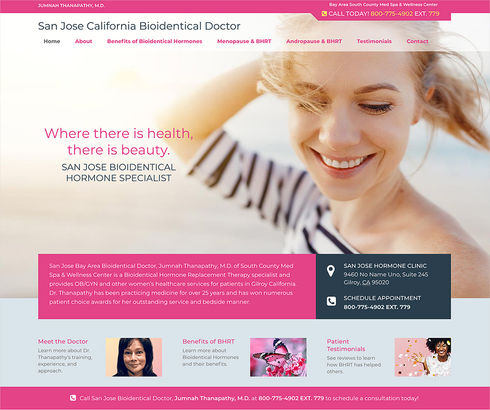 San Jose Bioidentical Doctor Website