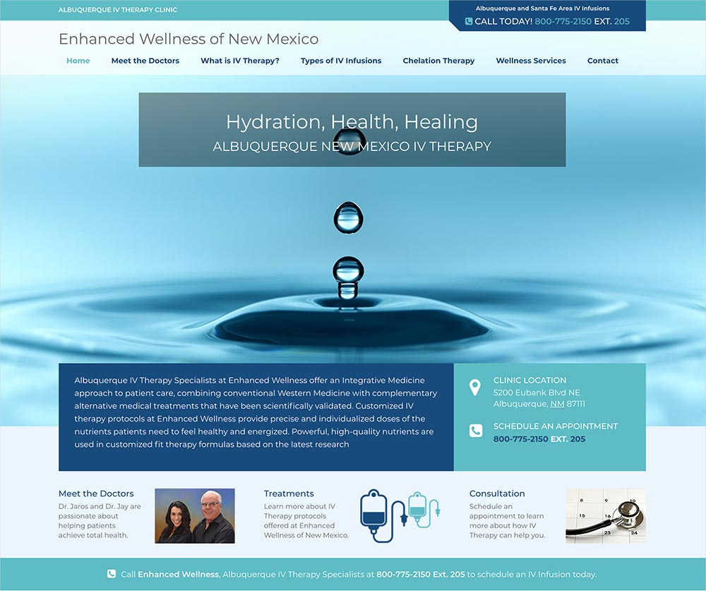 New Mexico Iv Therapy Site Design Akamai Innovations